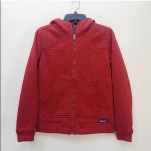 Patagonia Red Better Sweater Insulated Zip Up S